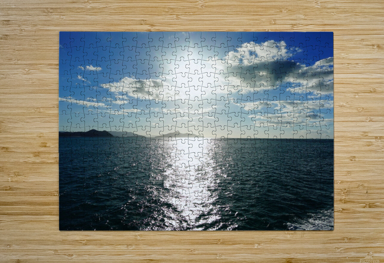 Sea Sun  HD Metal print with Floating Frame on Back