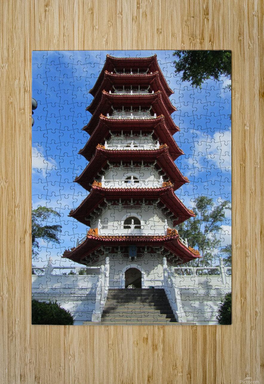 Pagoda  HD Metal print with Floating Frame on Back