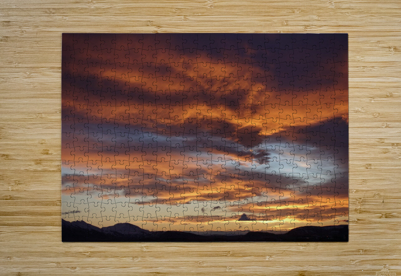 Icelandic Sunrise  HD Metal print with Floating Frame on Back
