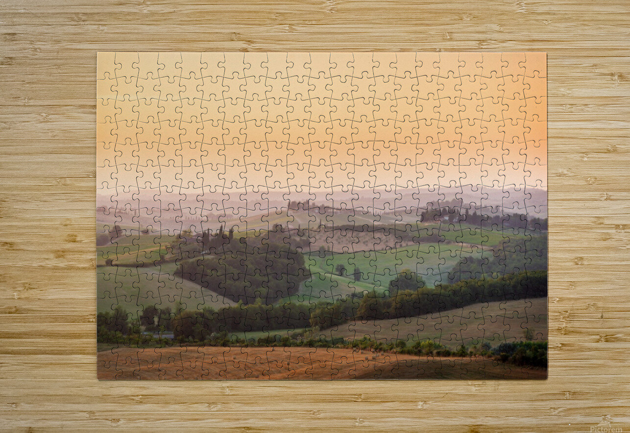Tuscany Sunset  HD Metal print with Floating Frame on Back