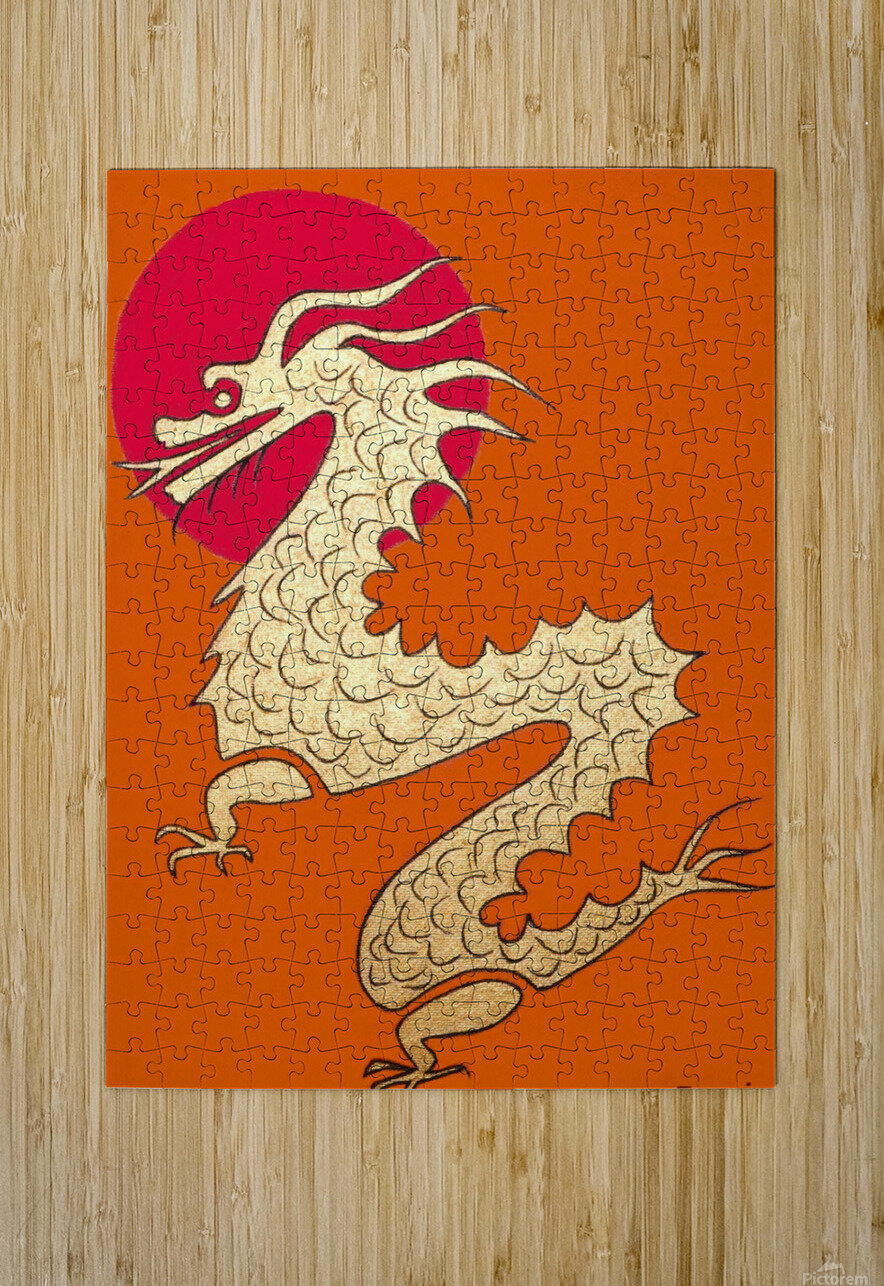Asian Dragon Icon No.1  HD Metal print with Floating Frame on Back