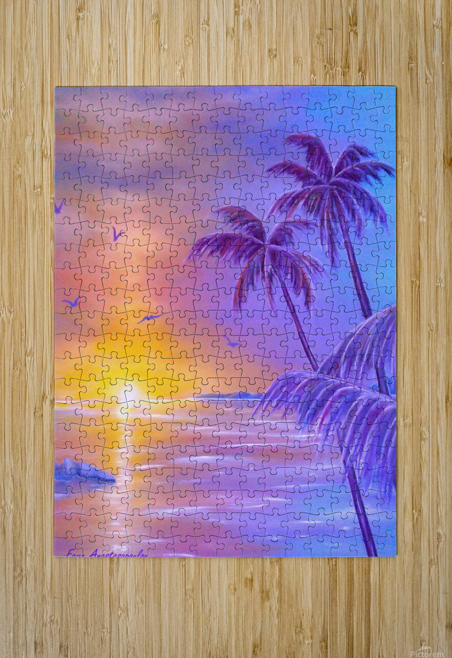 Tropical Breeze  HD Metal print with Floating Frame on Back