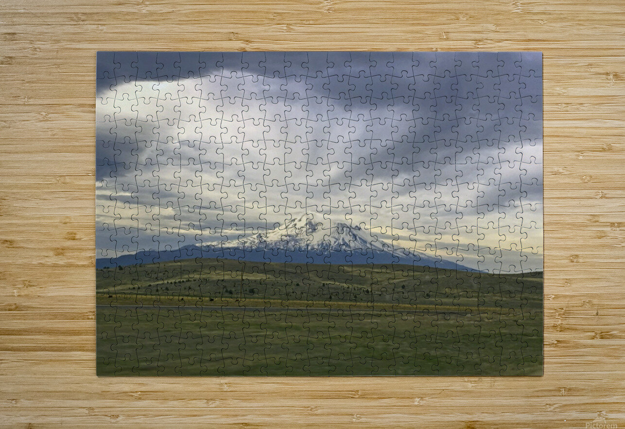 Shasta 1  HD Metal print with Floating Frame on Back