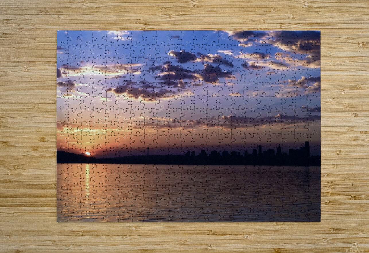 Puget Sound Sunrise  HD Metal print with Floating Frame on Back