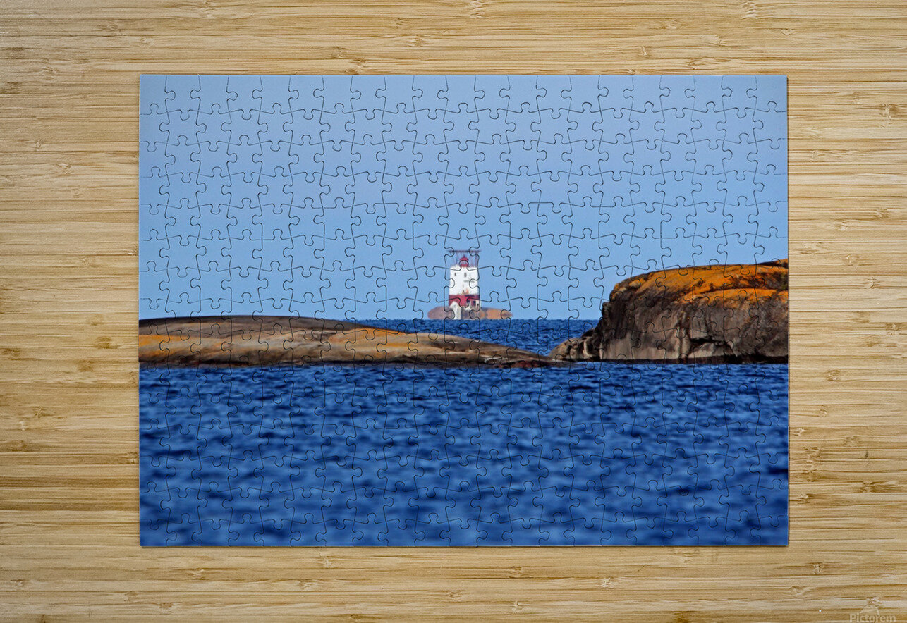 Red Rock Lighthouse Georgian Bay  HD Metal print with Floating Frame on Back
