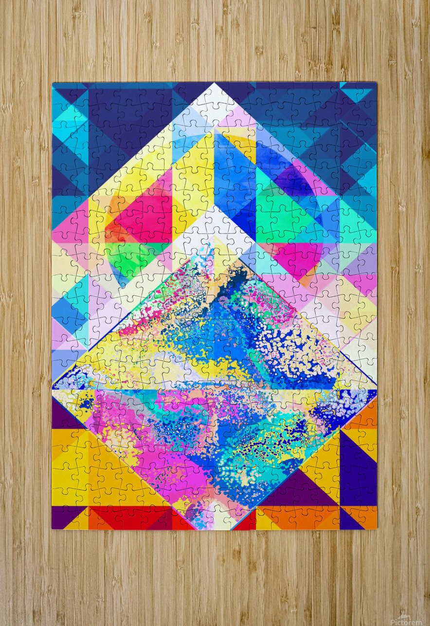 Geometric XXX  HD Metal print with Floating Frame on Back