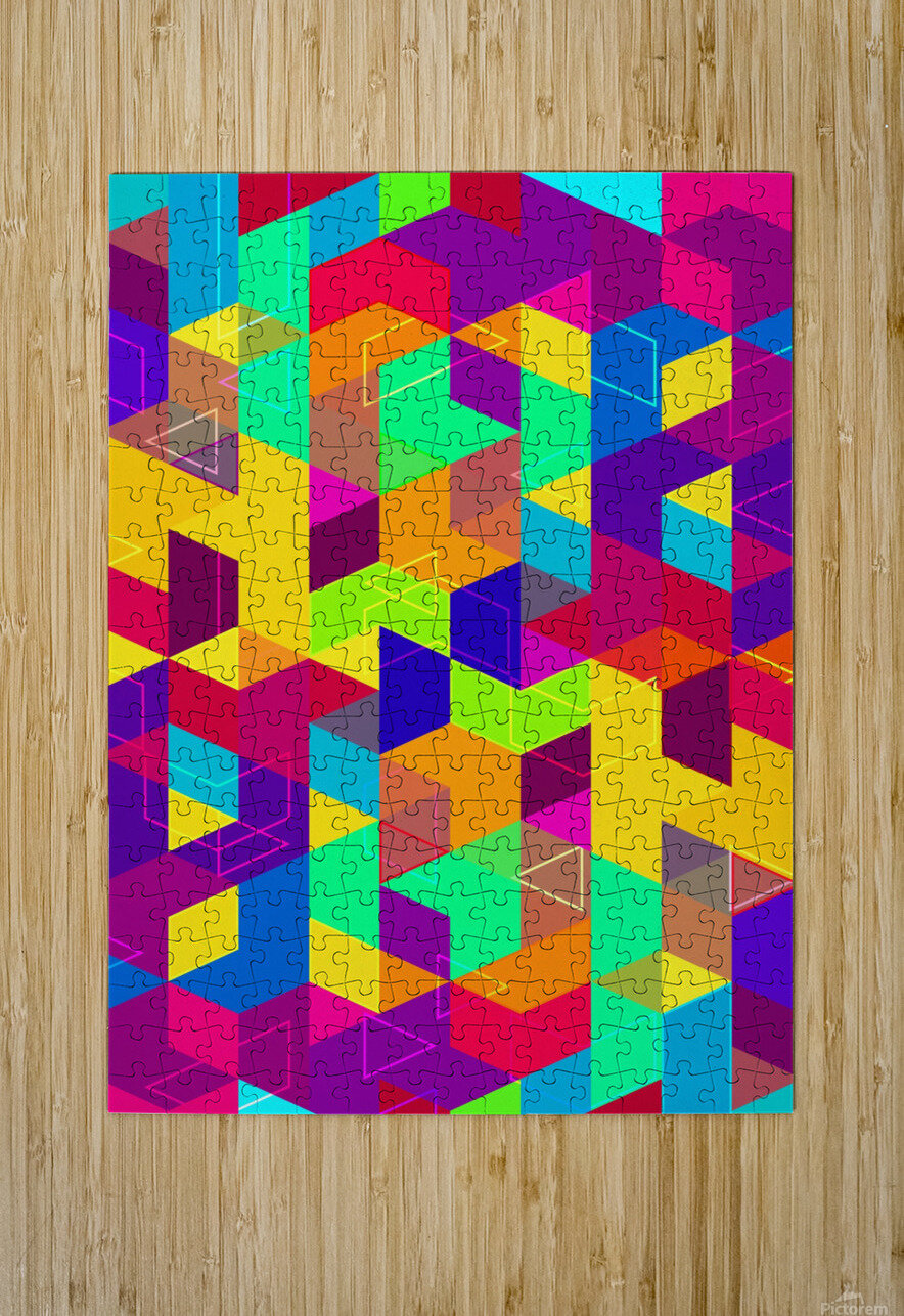 Pattern LXXX  HD Metal print with Floating Frame on Back