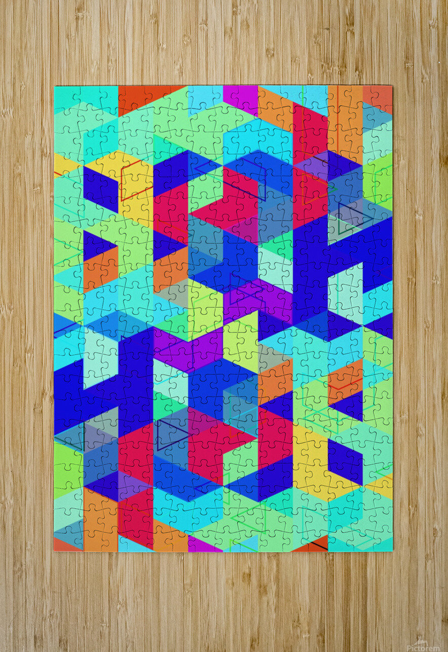 Pattern LXXIX  HD Metal print with Floating Frame on Back