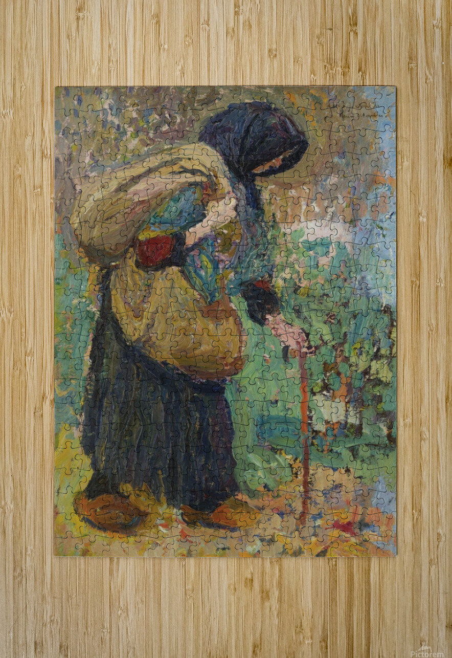 Old Peasant Woman  HD Metal print with Floating Frame on Back