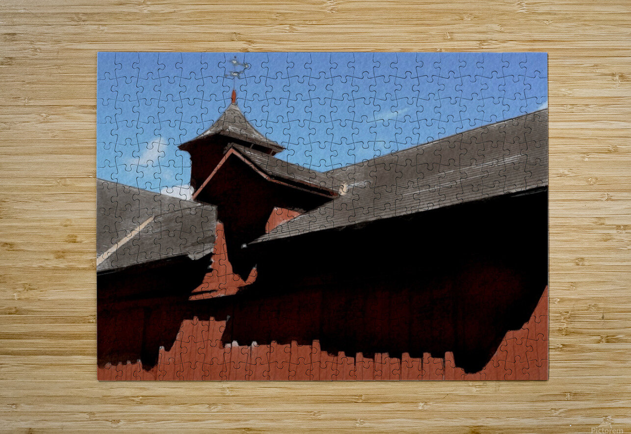Cummington Bryant Barn  HD Metal print with Floating Frame on Back