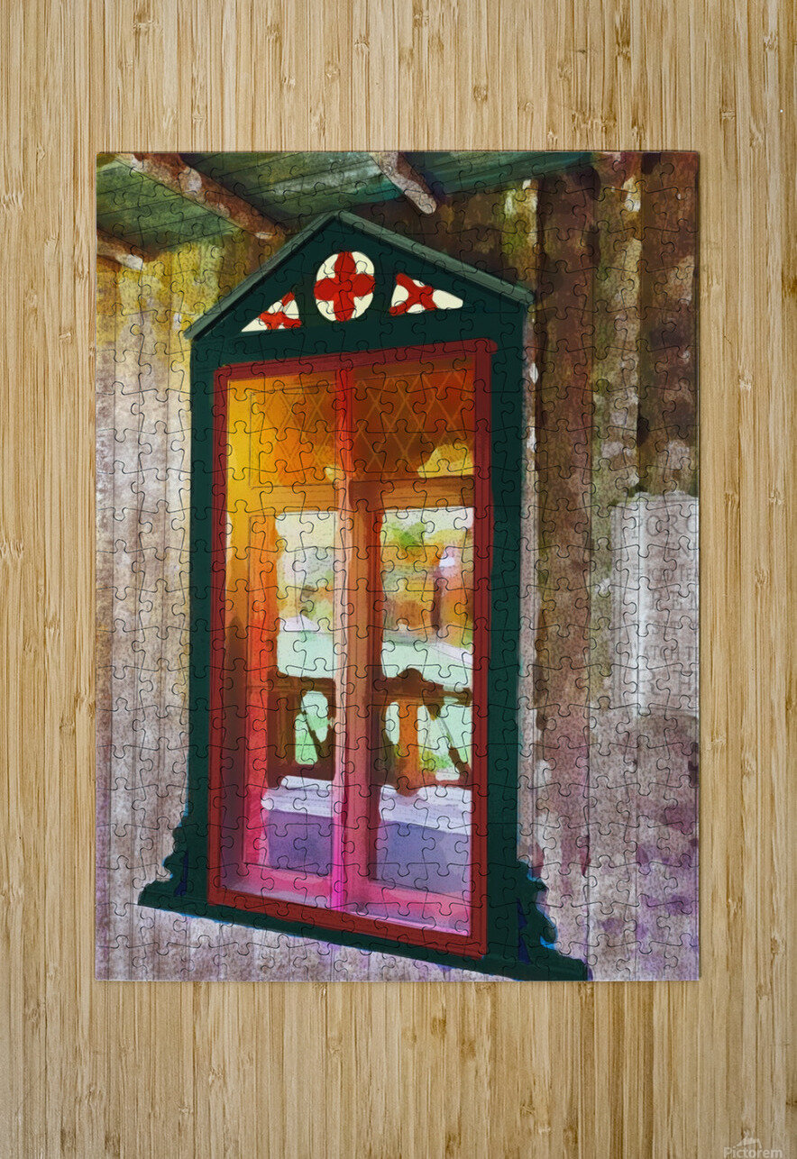 The Hedges Adirondack Window  HD Metal print with Floating Frame on Back