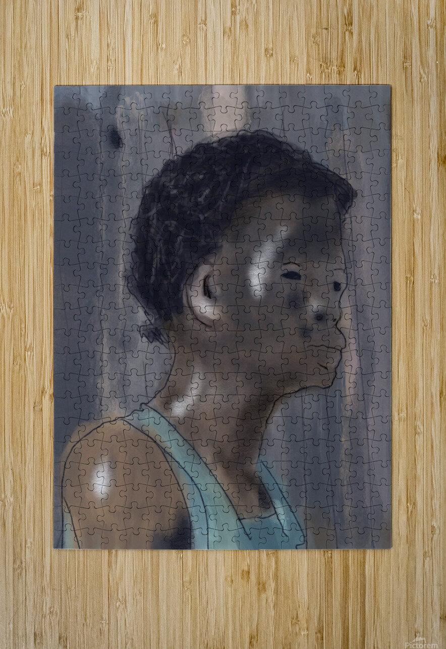 Whitney Plantation Slave Girl 5  HD Metal print with Floating Frame on Back