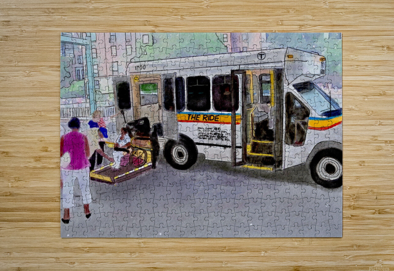 MBTA The Ride  HD Metal print with Floating Frame on Back