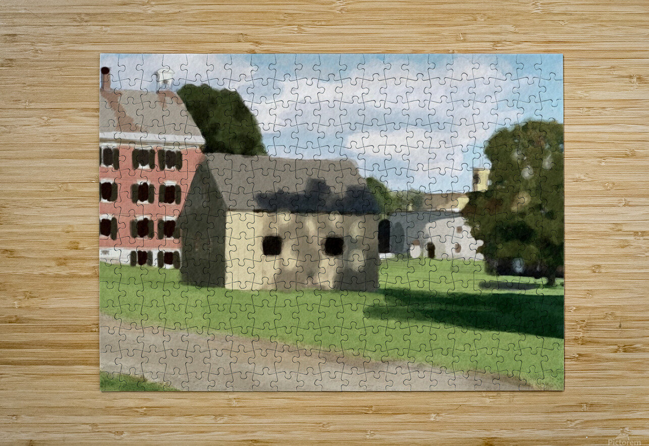 Hancock Shaker Village Brick Dwelling and Garage  HD Metal print with Floating Frame on Back