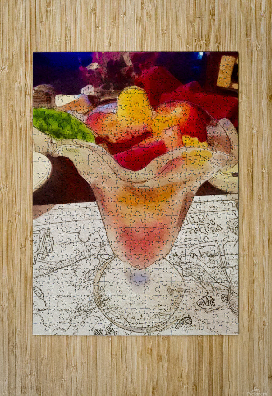 The Hedges Fruit Cup  HD Metal print with Floating Frame on Back