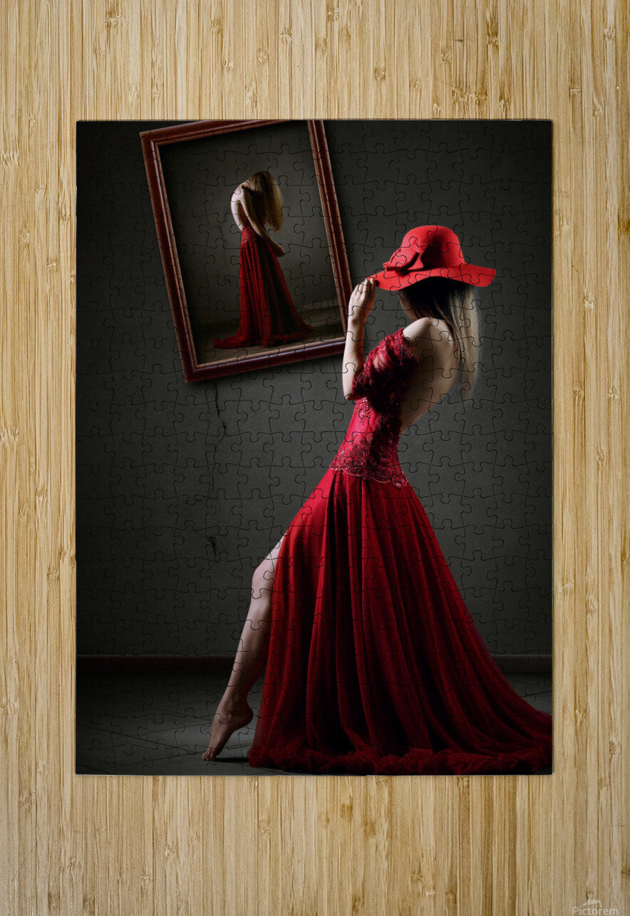 Pretense  HD Metal print with Floating Frame on Back