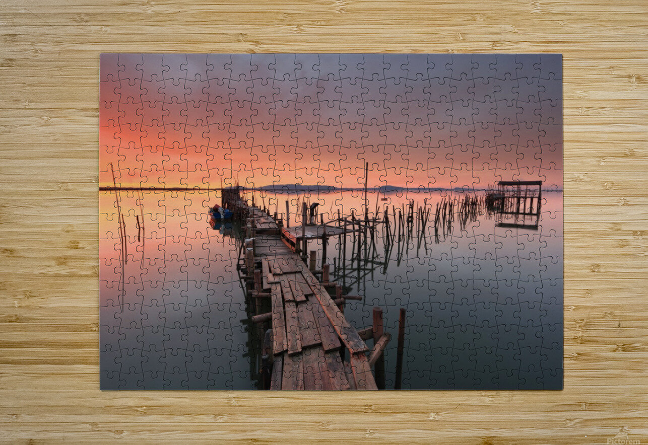 The last... Light  HD Metal print with Floating Frame on Back