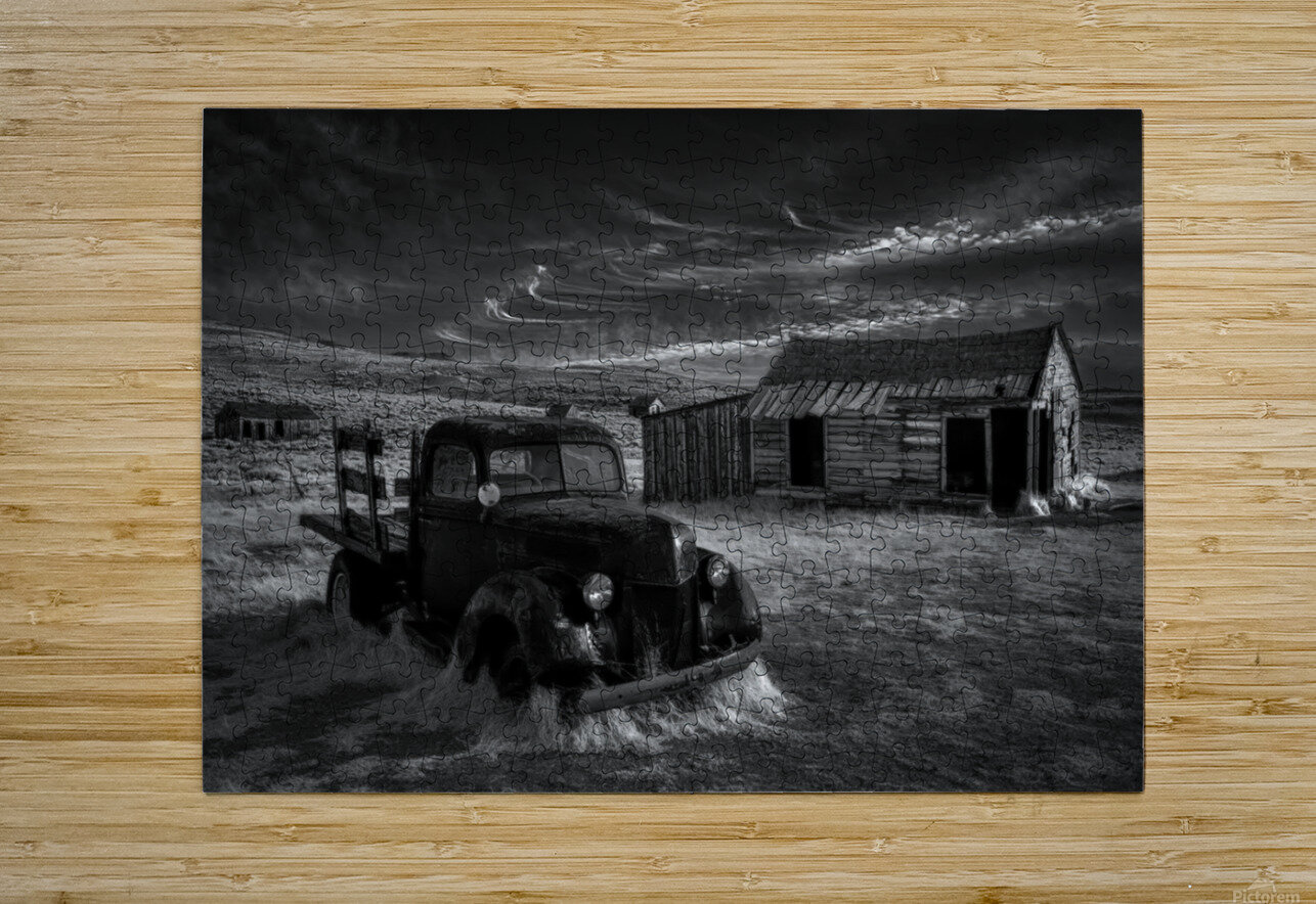 No More Gold...  HD Metal print with Floating Frame on Back