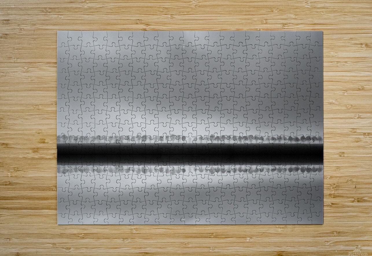 Polderlandscape in reflection  HD Metal print with Floating Frame on Back