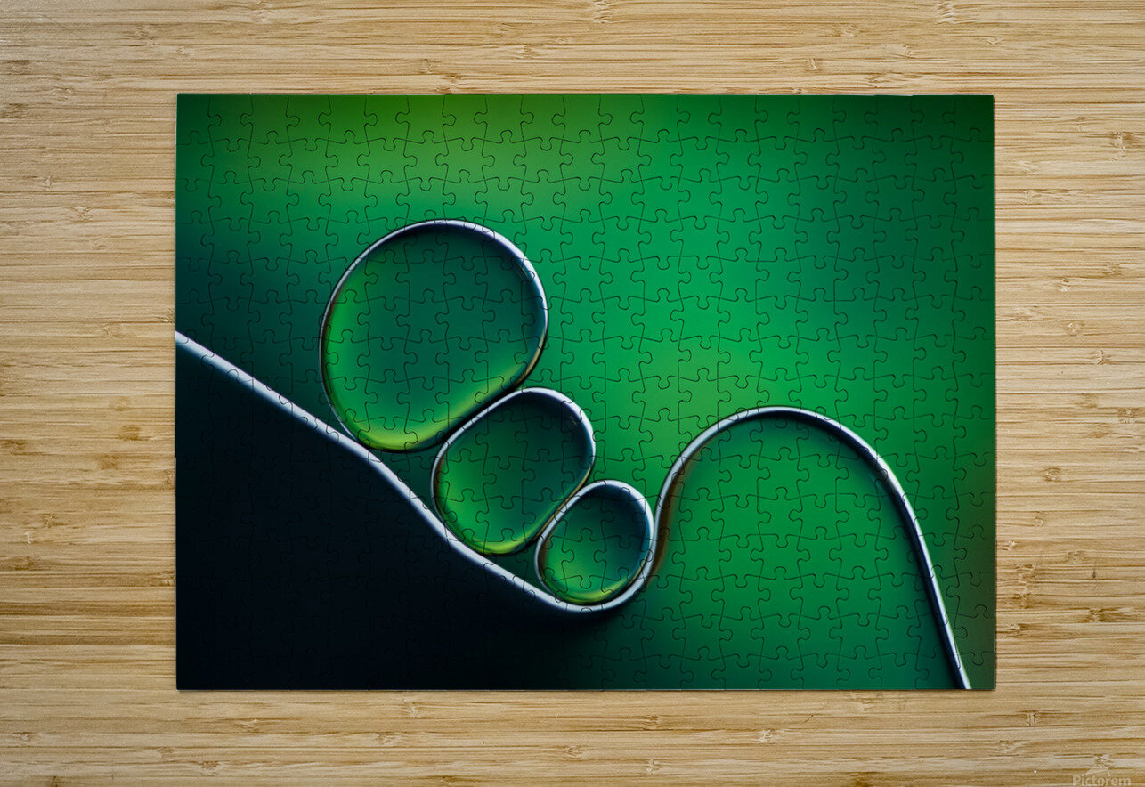 Shifting Shapes  HD Metal print with Floating Frame on Back