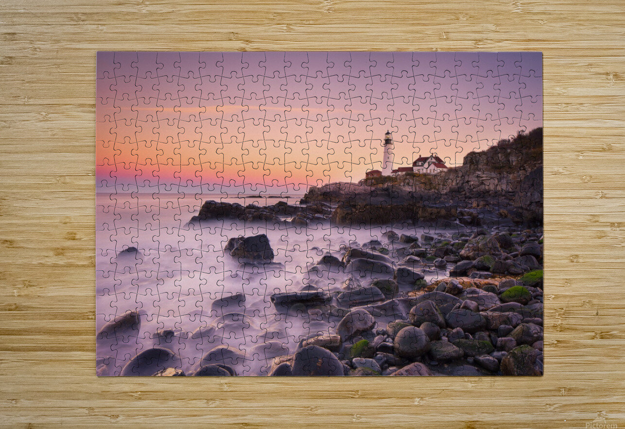 Portland Headlight  HD Metal print with Floating Frame on Back