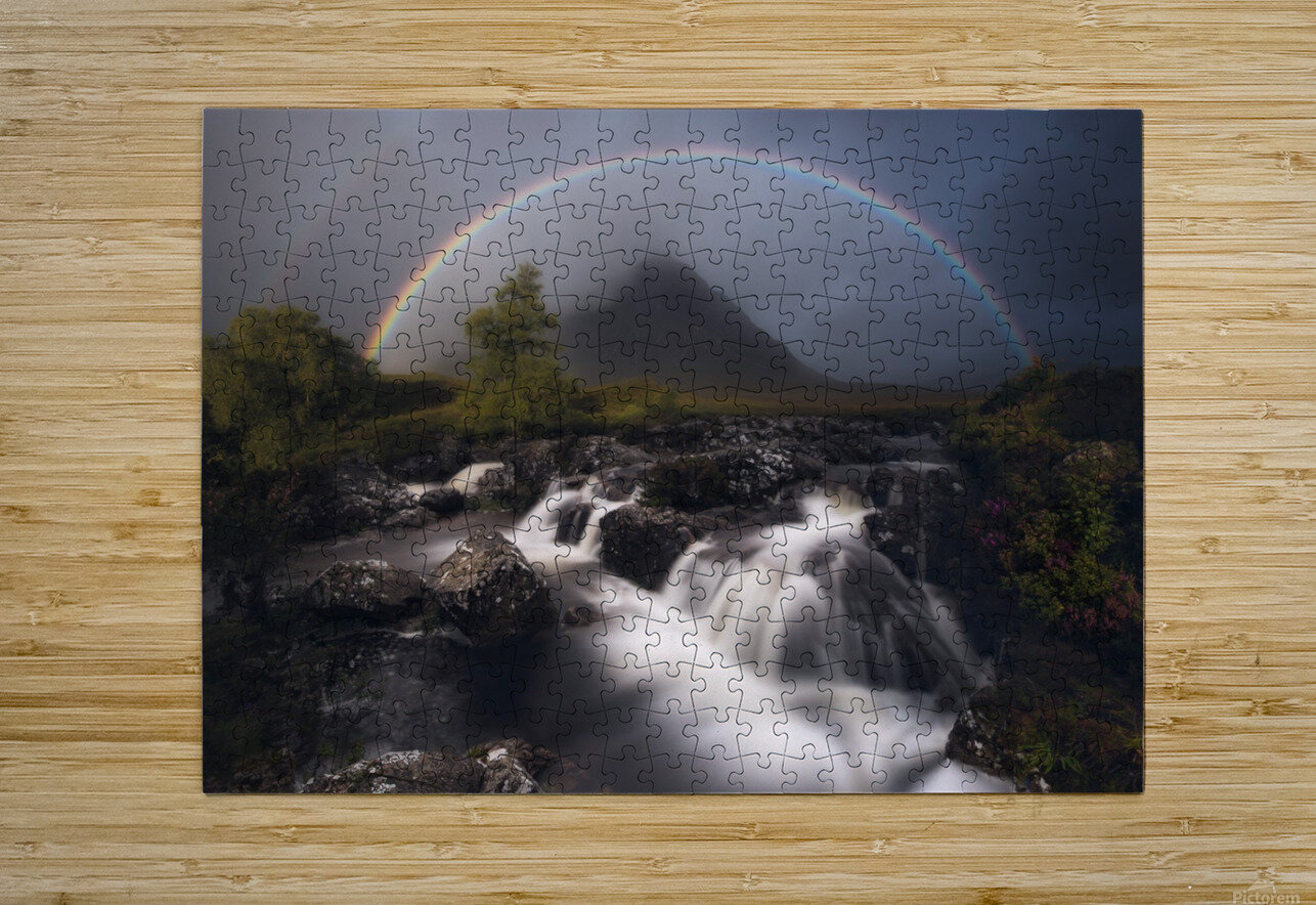 Etive Rainbow  HD Metal print with Floating Frame on Back