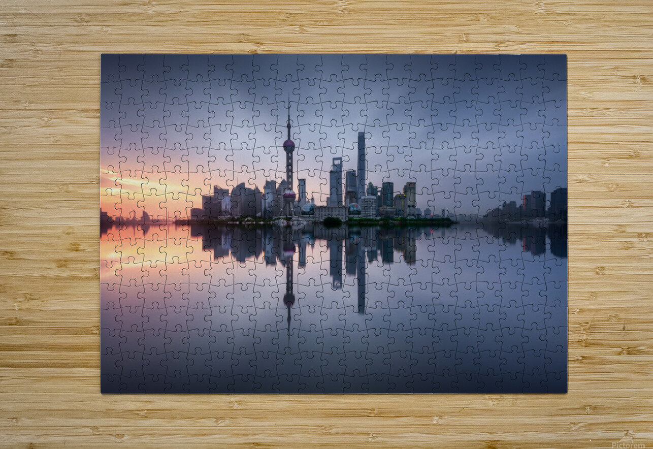 Good Morning Shanghai  HD Metal print with Floating Frame on Back