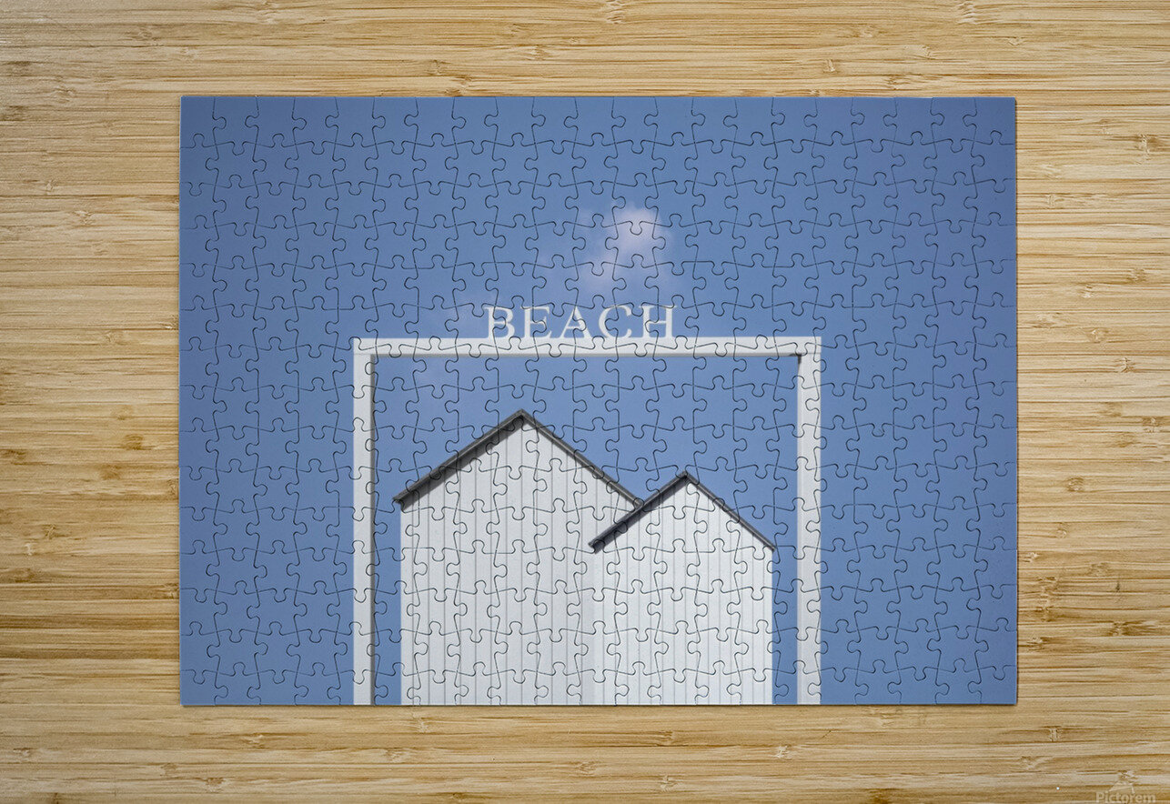 Beach.  HD Metal print with Floating Frame on Back