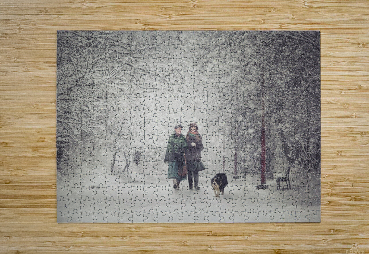 Snow storm charm  HD Metal print with Floating Frame on Back