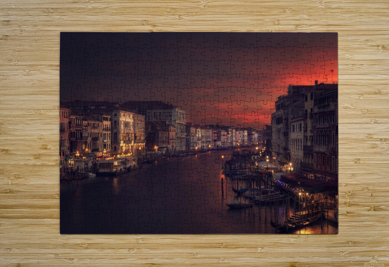 Gran canal  HD Metal print with Floating Frame on Back