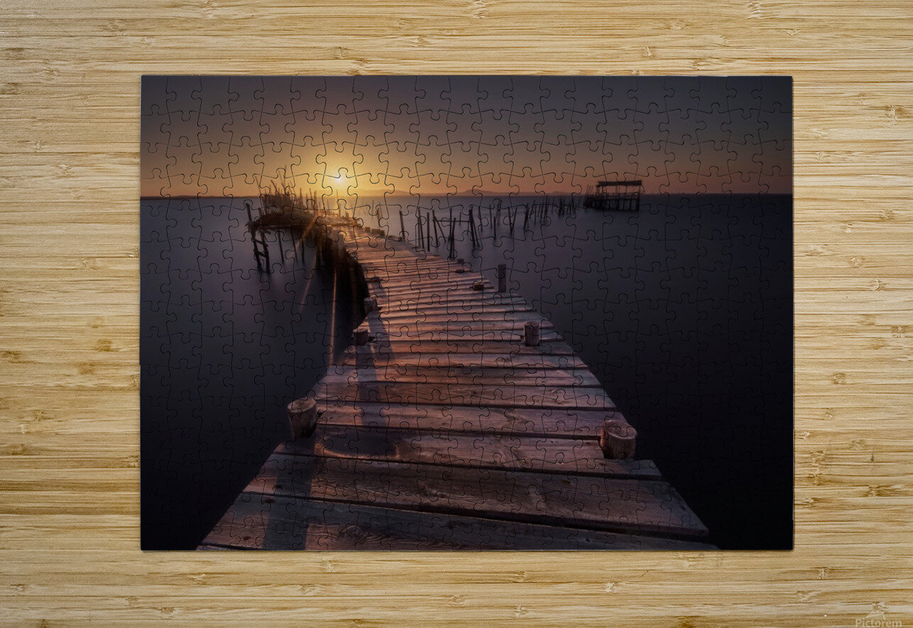 The dock  HD Metal print with Floating Frame on Back