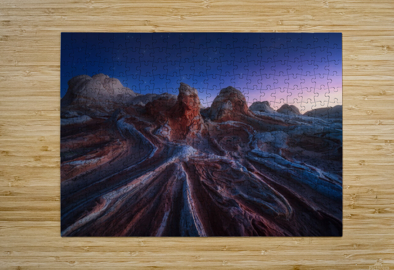 Gordian stone knot  HD Metal print with Floating Frame on Back