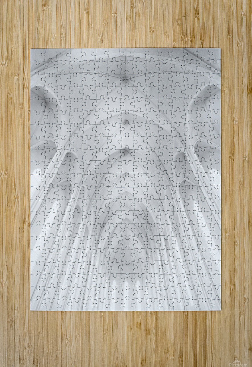 Hallgrimskirkja Church  in Iceland  HD Metal print with Floating Frame on Back