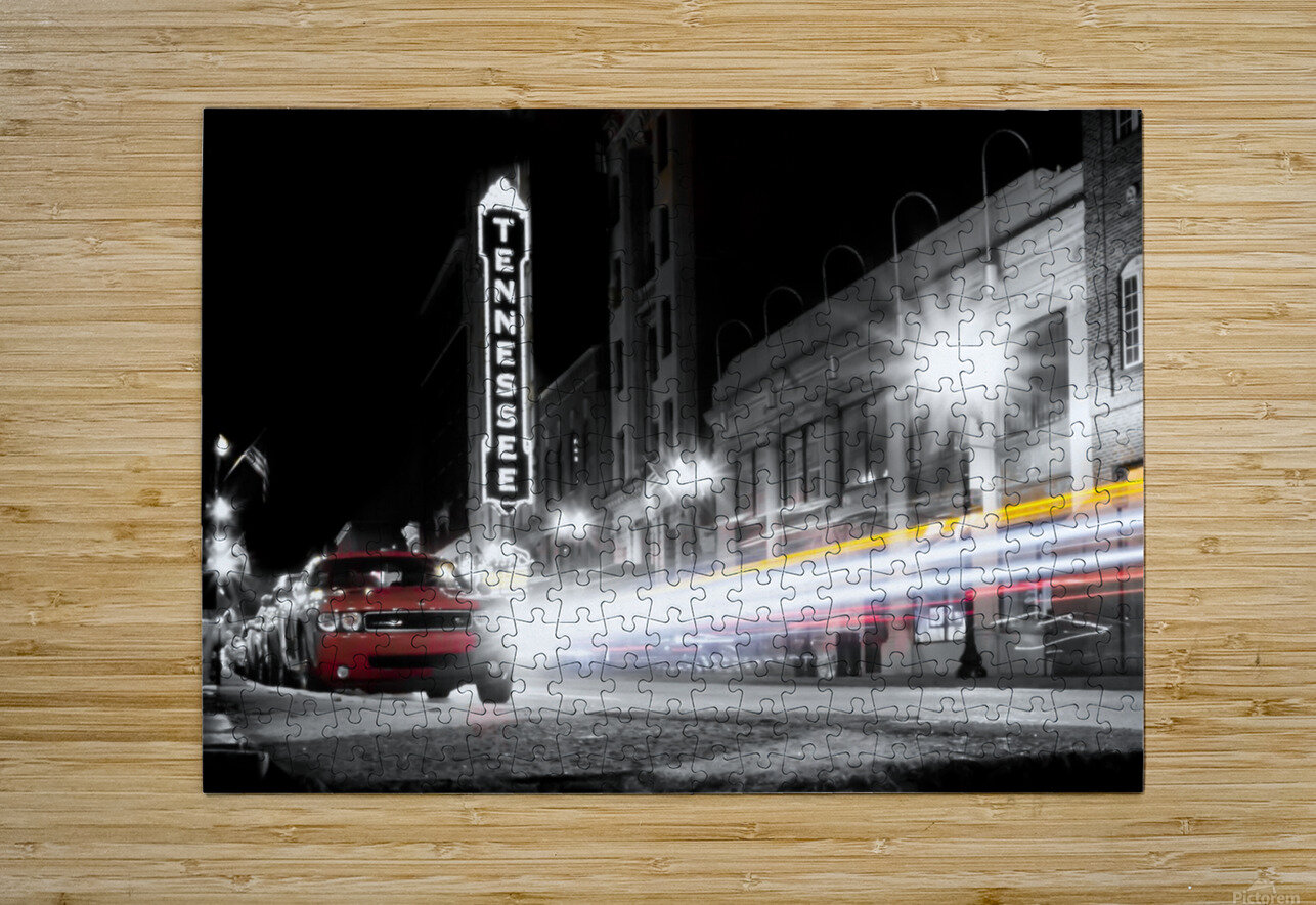 Tennessee Theater Monochrome  HD Metal print with Floating Frame on Back