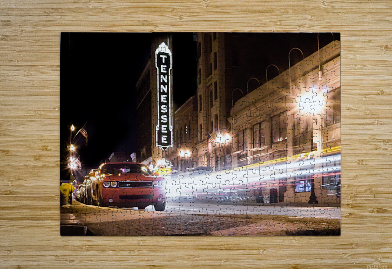 Tennessee Theater Color  HD Metal print with Floating Frame on Back