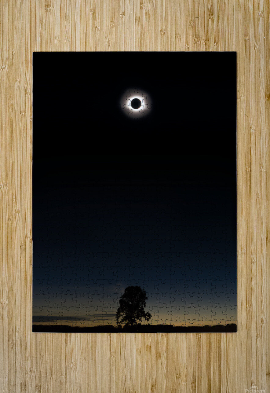 Eclipse 2017  HD Metal print with Floating Frame on Back