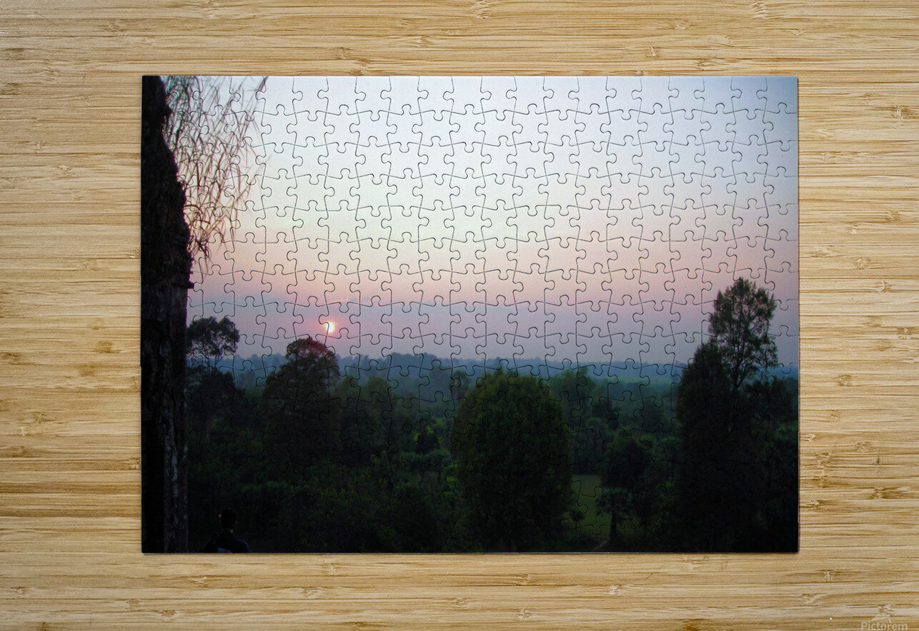 Sunset43  HD Metal print with Floating Frame on Back