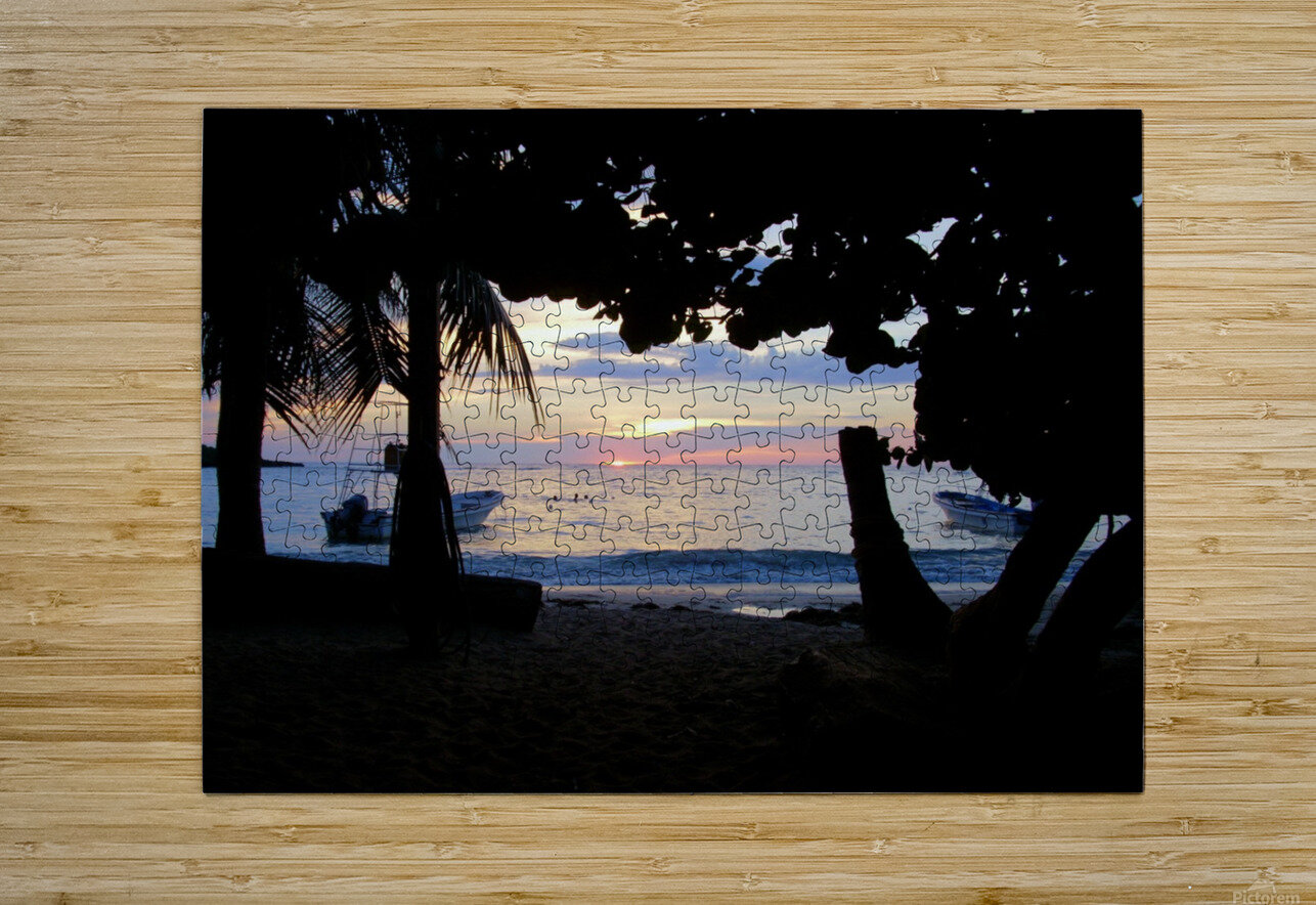 Sunset16  HD Metal print with Floating Frame on Back