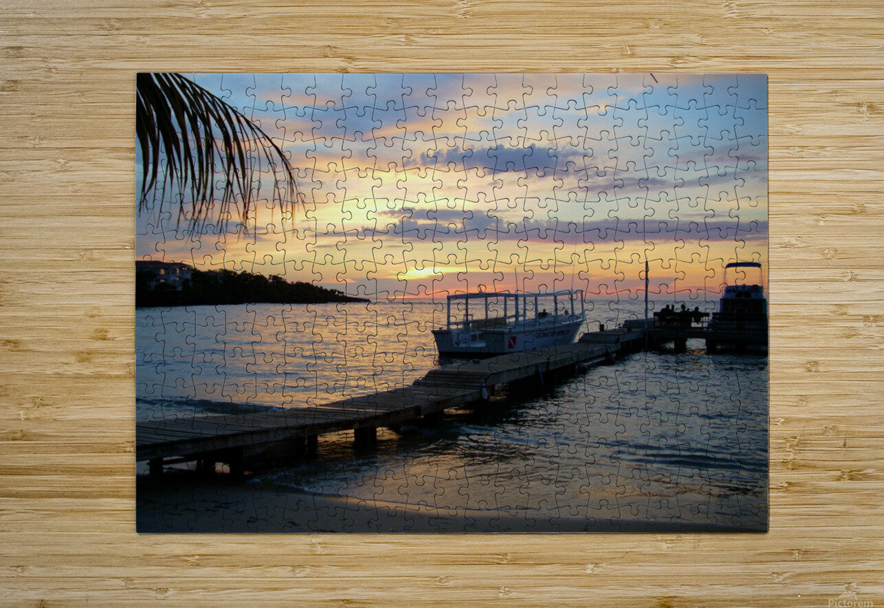 Sunset15  HD Metal print with Floating Frame on Back