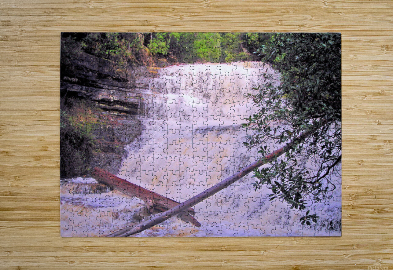 Waterfall8  HD Metal print with Floating Frame on Back