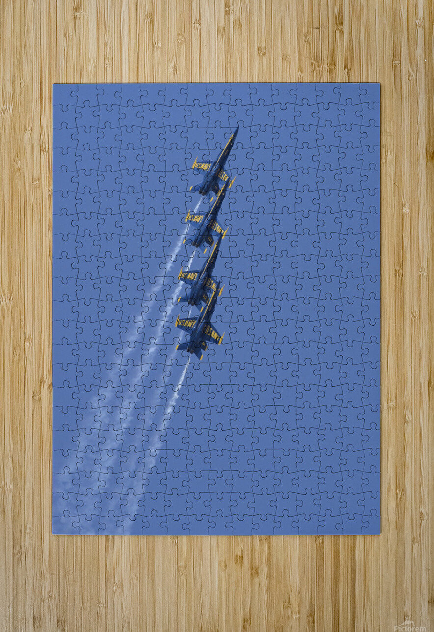U.S. Navy flight demonstration squadron the Blue Angels.  HD Metal print with Floating Frame on Back