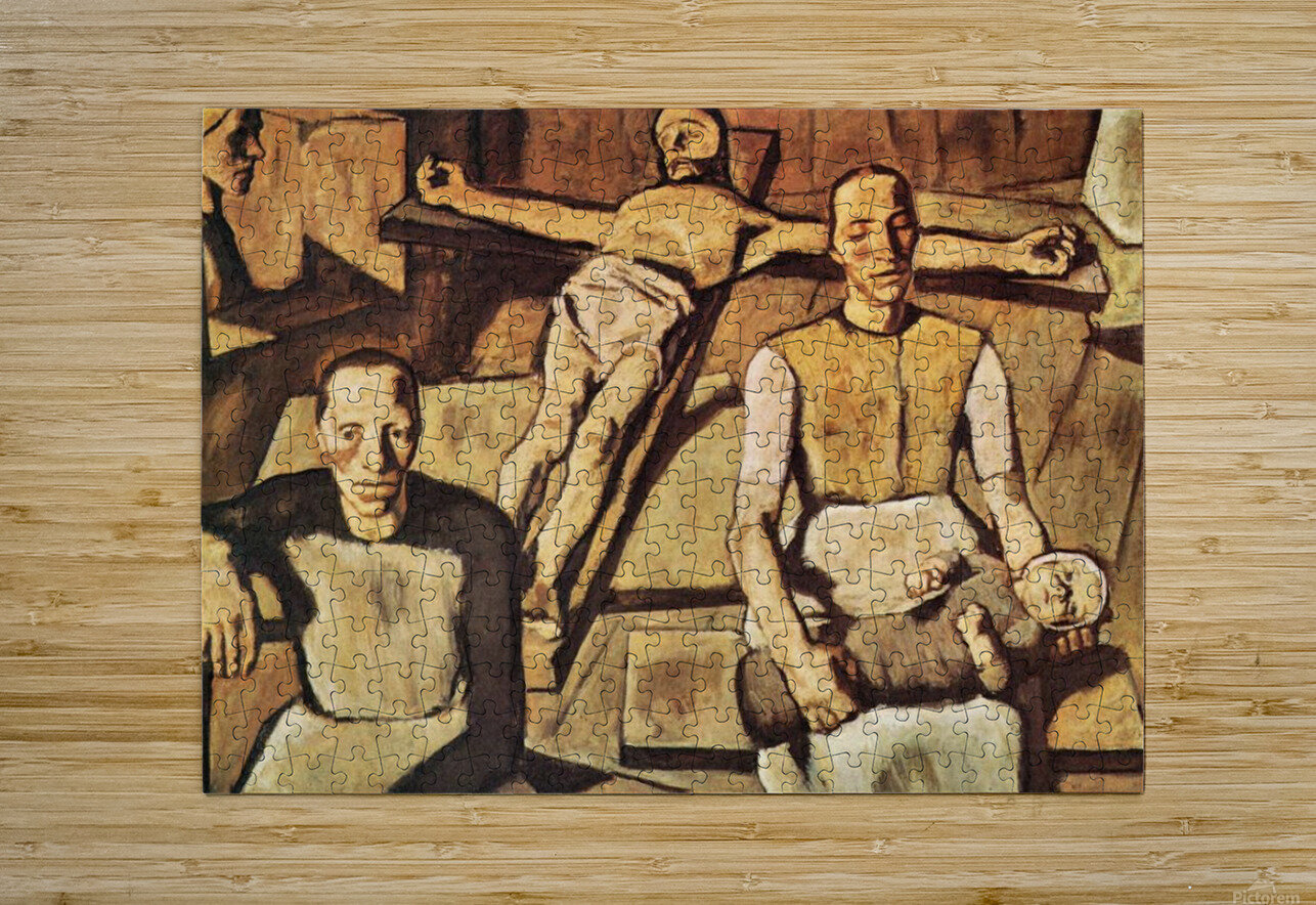 Mother by Albin Egger-Lienz  HD Metal print with Floating Frame on Back