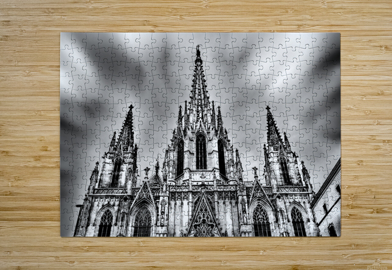 Barcelona Cathedral  HD Metal print with Floating Frame on Back