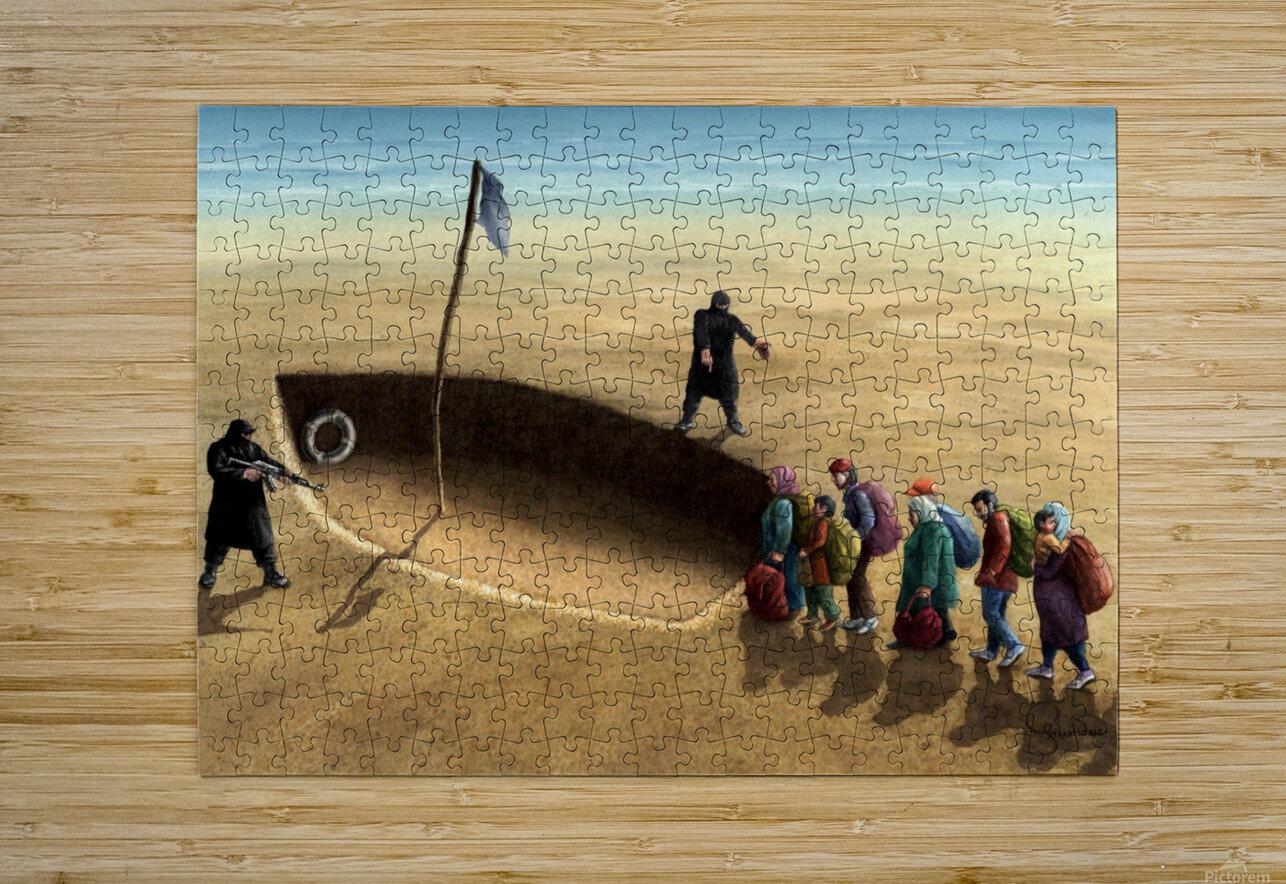 Last emigration by Krzysztof Grzondziel  HD Metal print with Floating Frame on Back