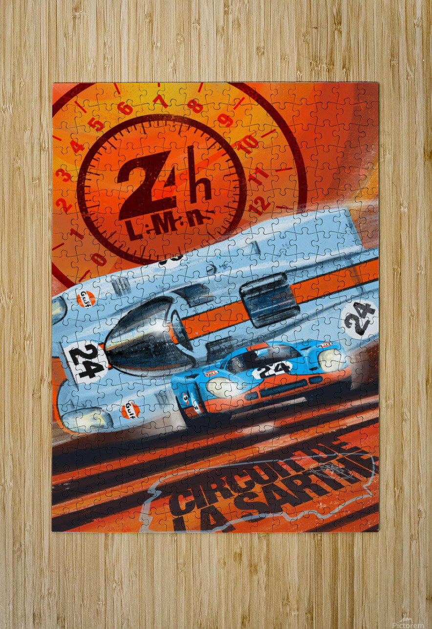 leMans  HD Metal print with Floating Frame on Back