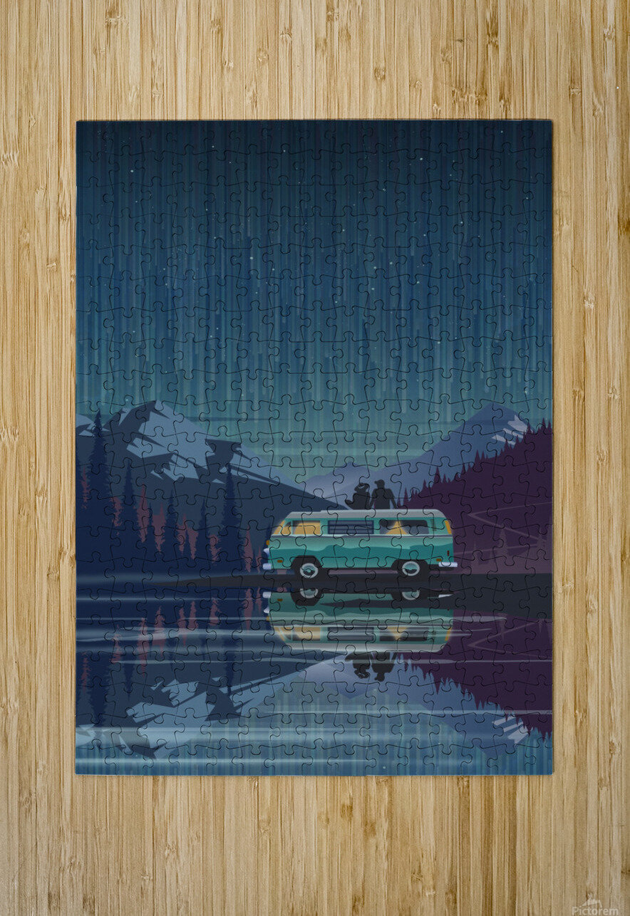 Vanlife under the stars  HD Metal print with Floating Frame on Back