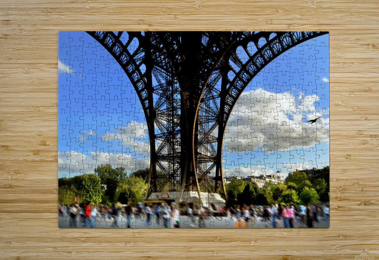 Life under the Eiffel Tower  HD Metal print with Floating Frame on Back