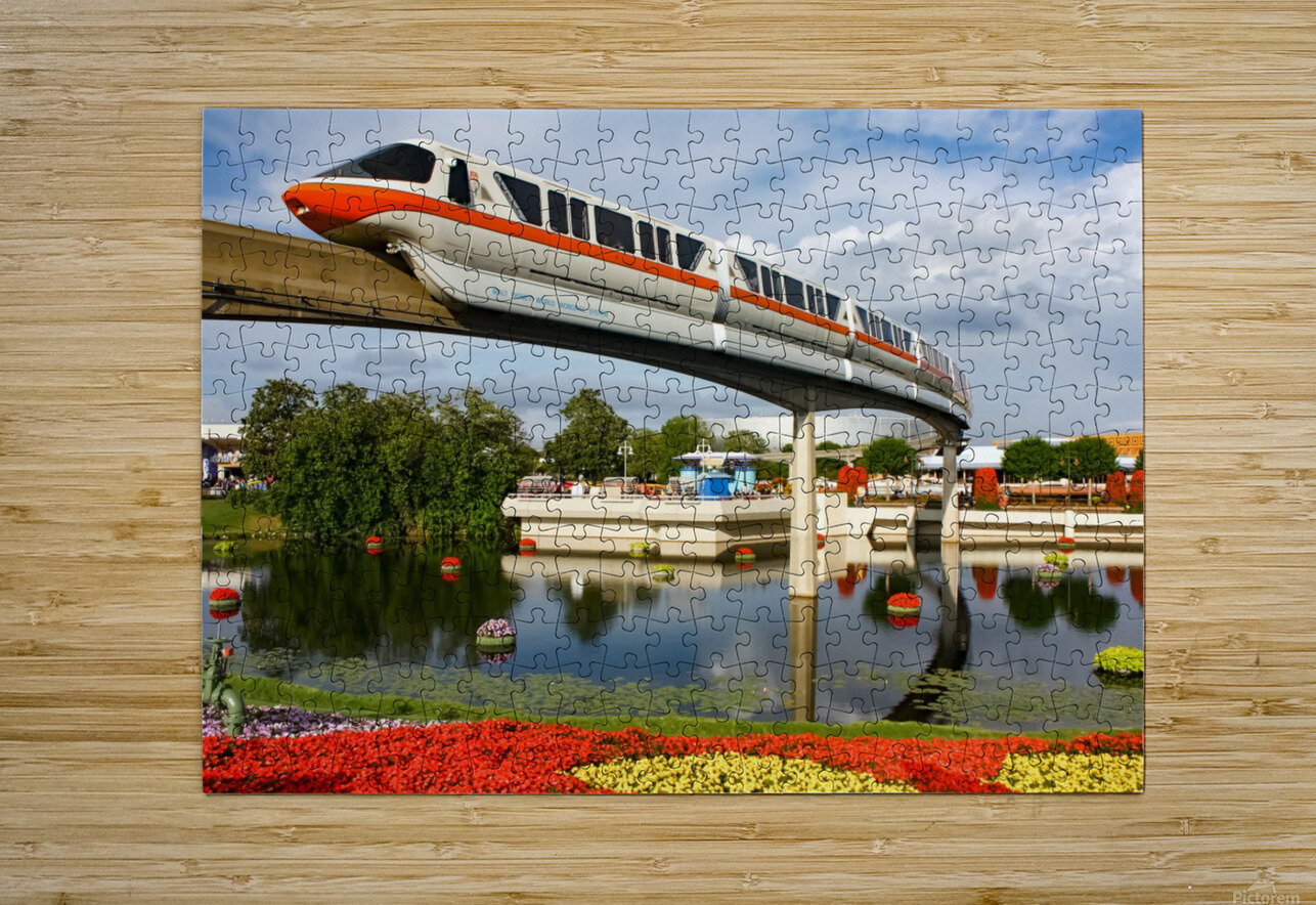 EPCOT Monorail  HD Metal print with Floating Frame on Back