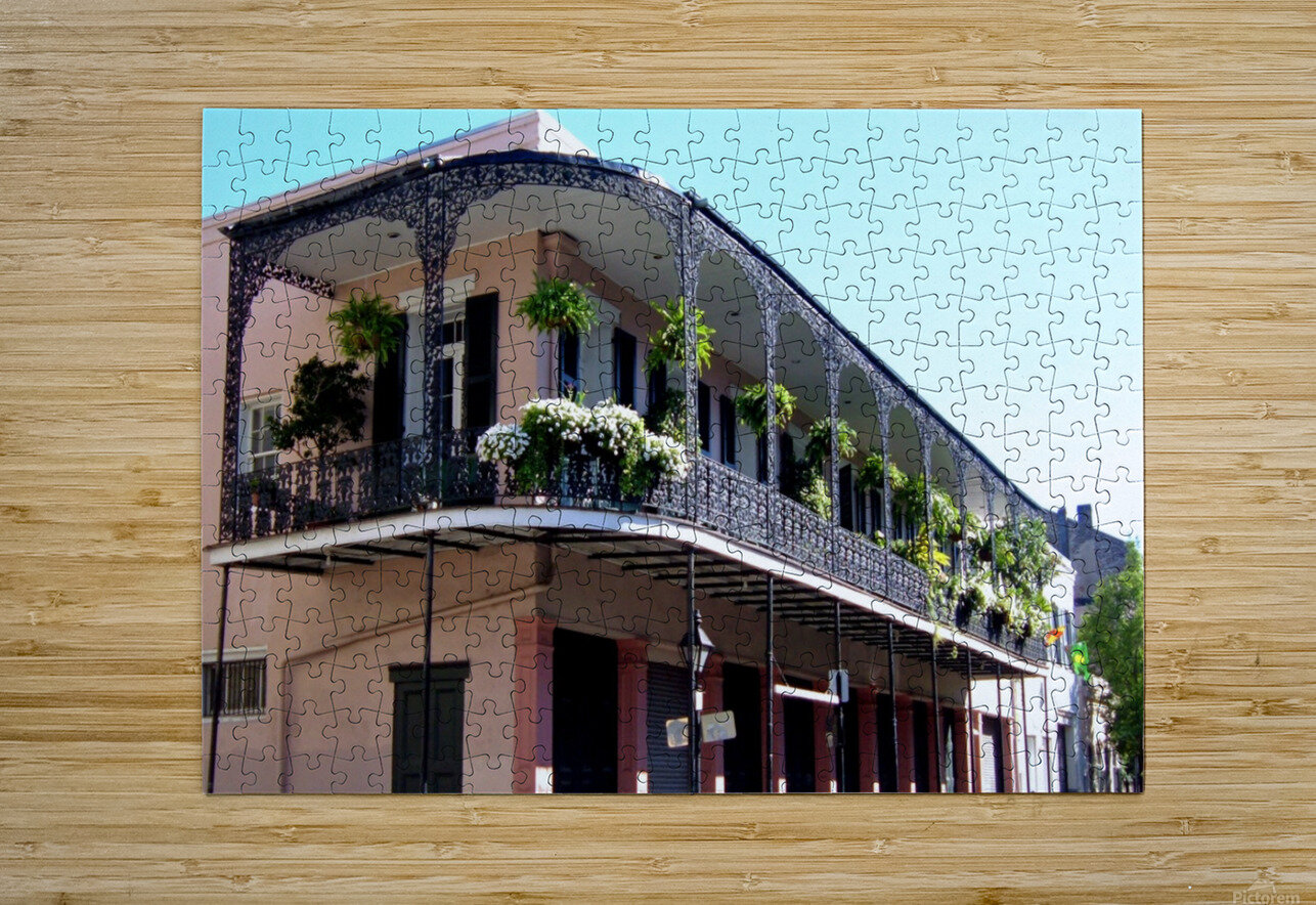 New Orleans Balcony  HD Metal print with Floating Frame on Back