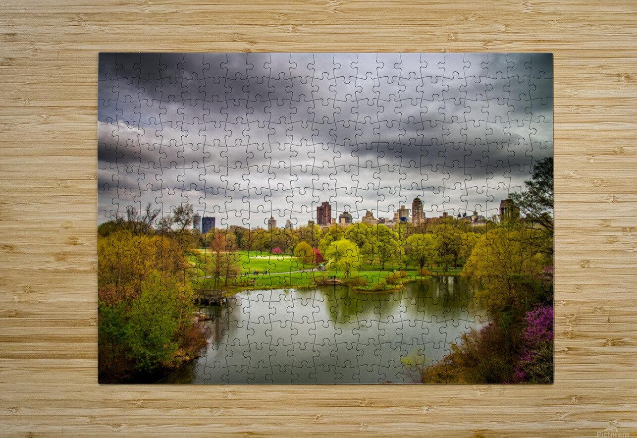 Central Park  HD Metal print with Floating Frame on Back